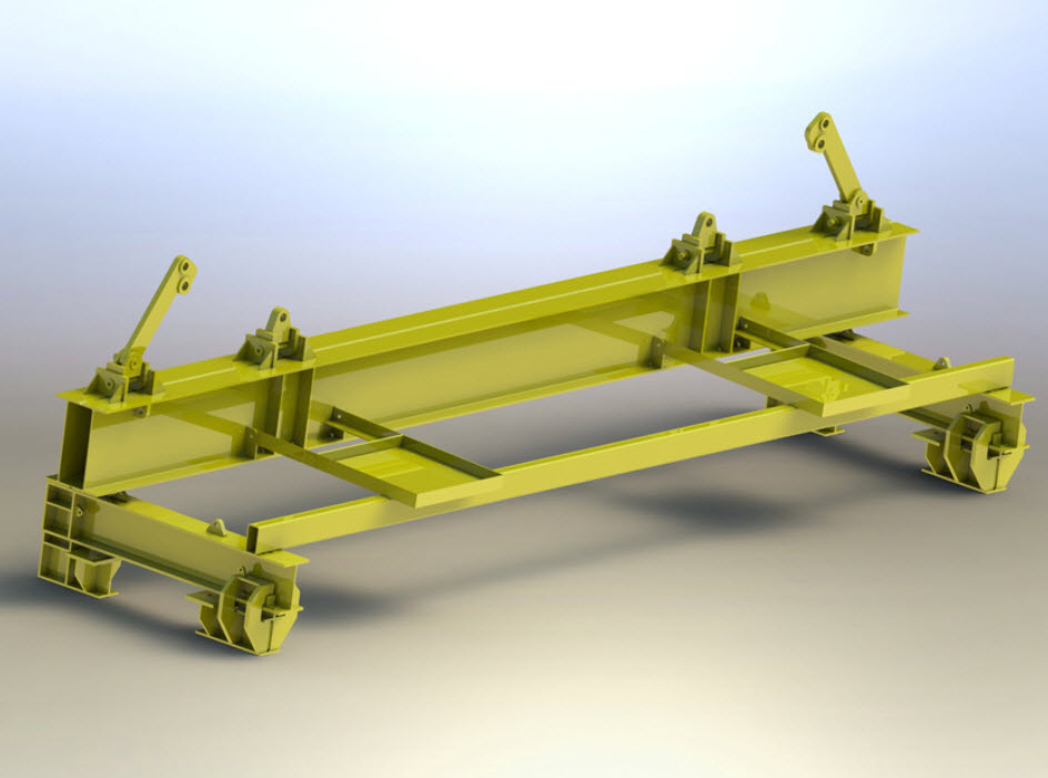 Edge Girder Floor Beam Picking Device